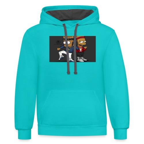 Sweatshirt - Contrast Hoodie