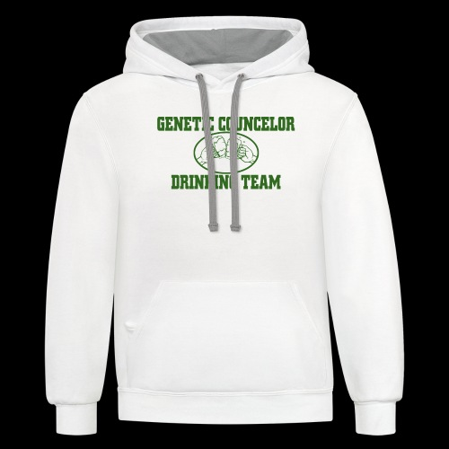 genetic counselor drinking team - Contrast Hoodie