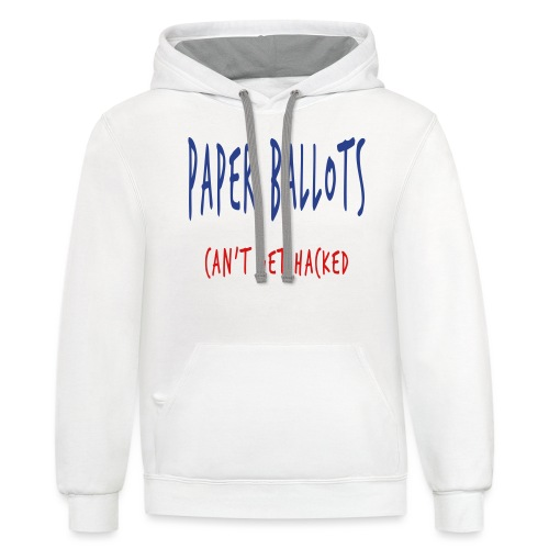 Paper Ballots T-shirts - Contrast Hoodie