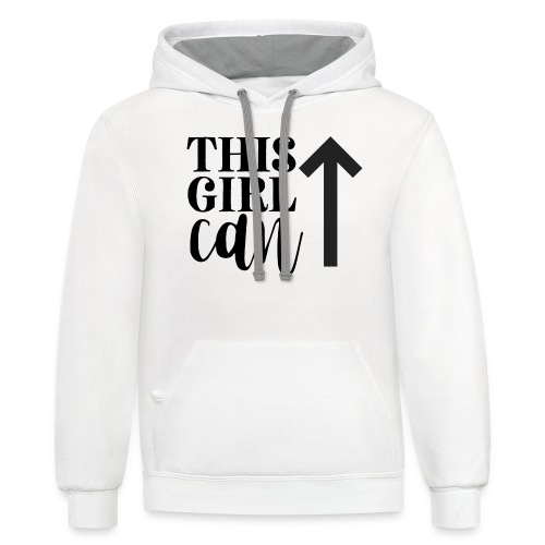 this girl can - Unisex Contrast Hoodie