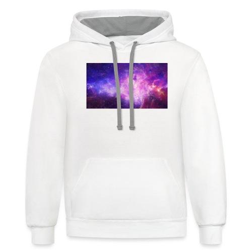 big galaxy - Unisex Contrast Hoodie
