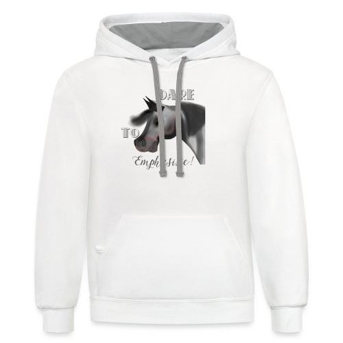 Dare to Emphasize Merch - Unisex Contrast Hoodie