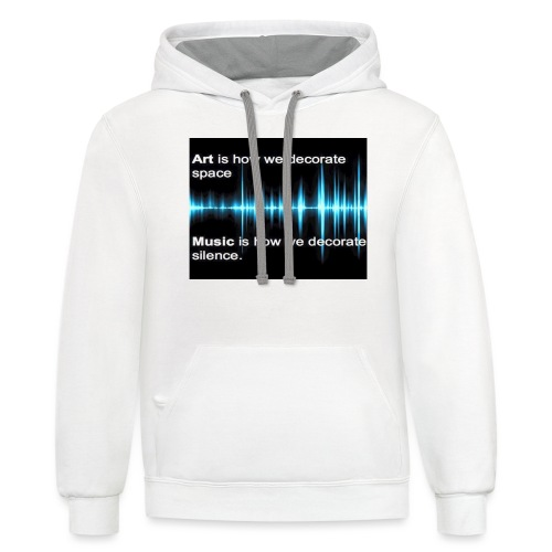 Music and art - Unisex Contrast Hoodie
