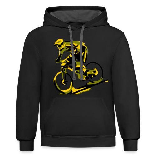DH Freak - Mountain Bike Hoodie - Unisex Contrast Hoodie