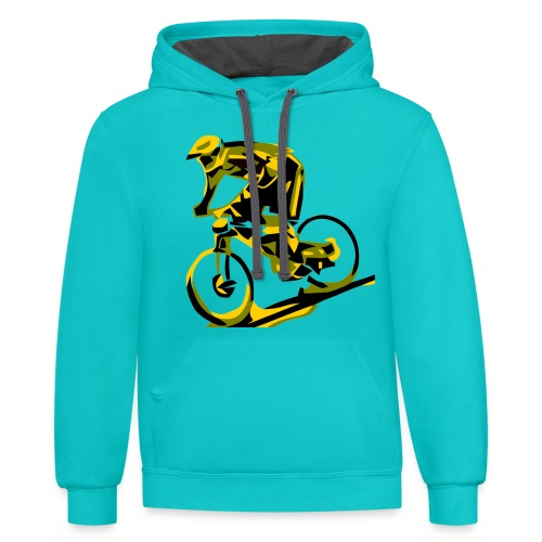 DH Freak - Mountain Bike Hoodie - Contrast Hoodie