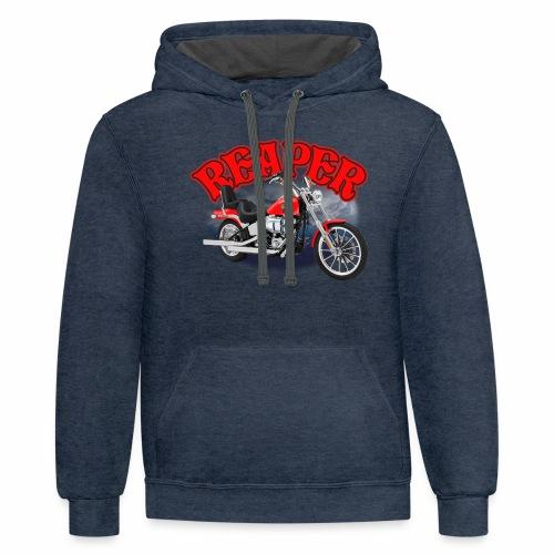 Motorcycle Reaper - Contrast Hoodie