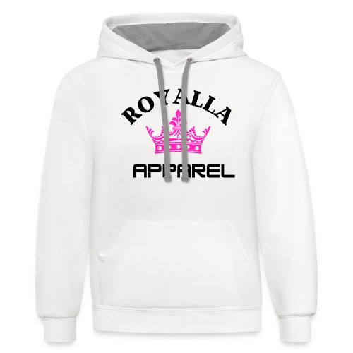Royalla Apparel Black with Pink Logo - Unisex Contrast Hoodie