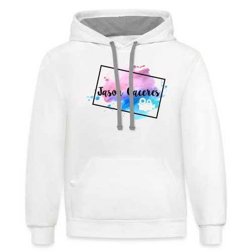 Jason Caceres Opening Intro Logo - Contrast Hoodie