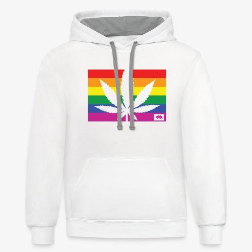 California Pride - Unisex Contrast Hoodie