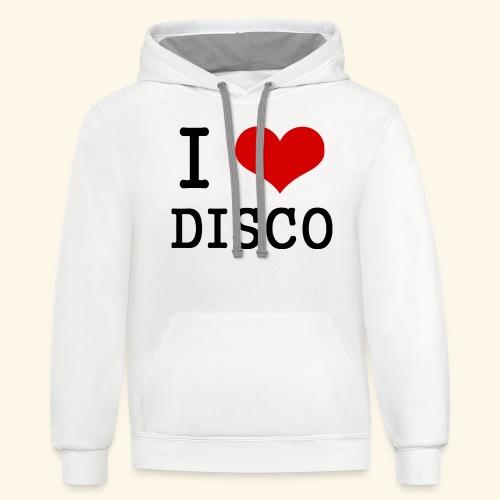 I love disco - Unisex Contrast Hoodie