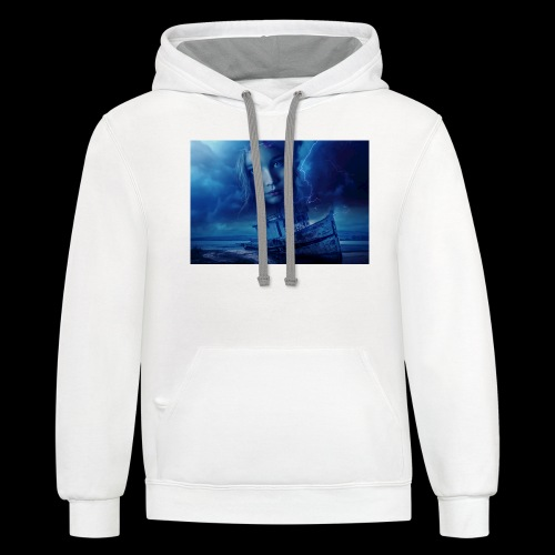 Stormy Night, Child Lost At Sea - Contrast Hoodie