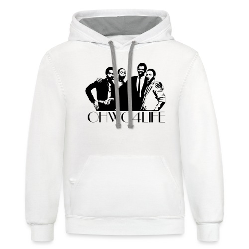 ohwc text blk & Wh Silhouette - Unisex Contrast Hoodie