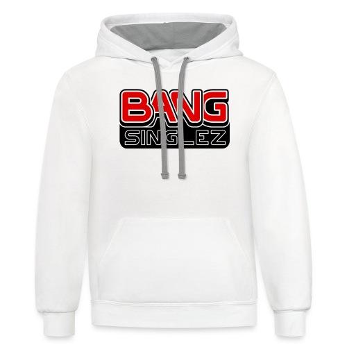 BangSinglez Logo Red - Unisex Contrast Hoodie