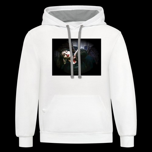 Once Bitten Once Loved - Contrast Hoodie