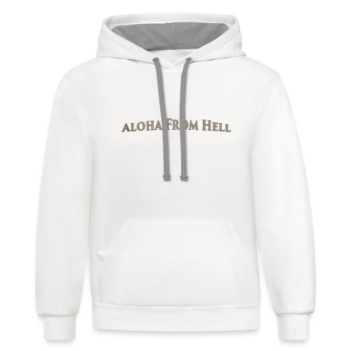 Aloha from hell - Contrast Hoodie