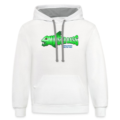 Monster bass fishing charters - Unisex Contrast Hoodie