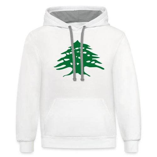 Lebanese Pride Shirt - Contrast Hoodie