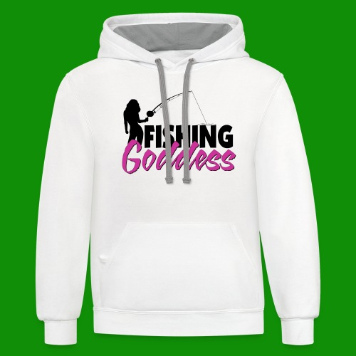 FISHING GODDESS - Unisex Contrast Hoodie