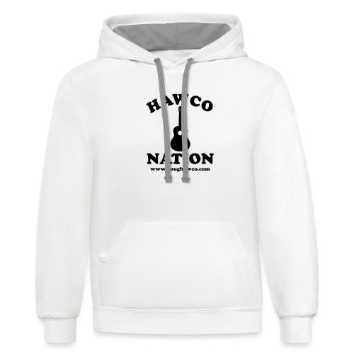 HAWCO NATION BLACK LETTERS - Unisex Contrast Hoodie