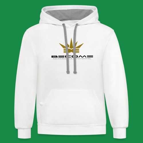 makare BLACK w Gold crown - Unisex Contrast Hoodie