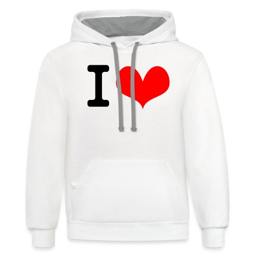 I Love what - Unisex Contrast Hoodie