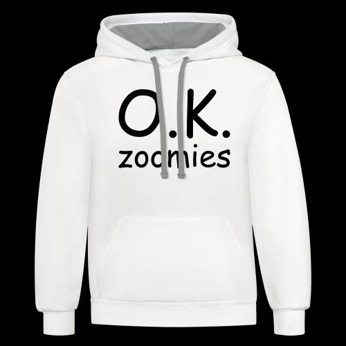 OK Zoomer - Unisex Contrast Hoodie