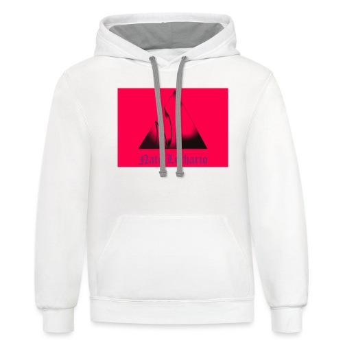 Pink Logo - Unisex Contrast Hoodie