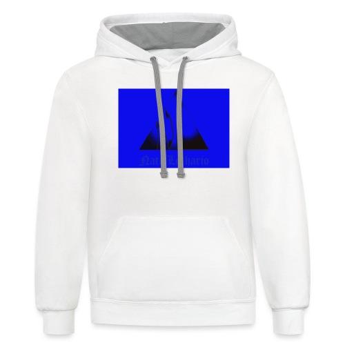 Blue Logo 2 - Unisex Contrast Hoodie
