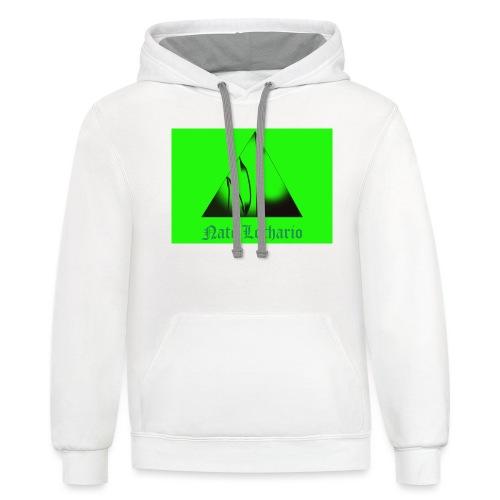 Lime Green Logo - Unisex Contrast Hoodie