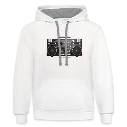 Helix HX 4700 Boombox Magazine T-Shirt - Unisex Contrast Hoodie