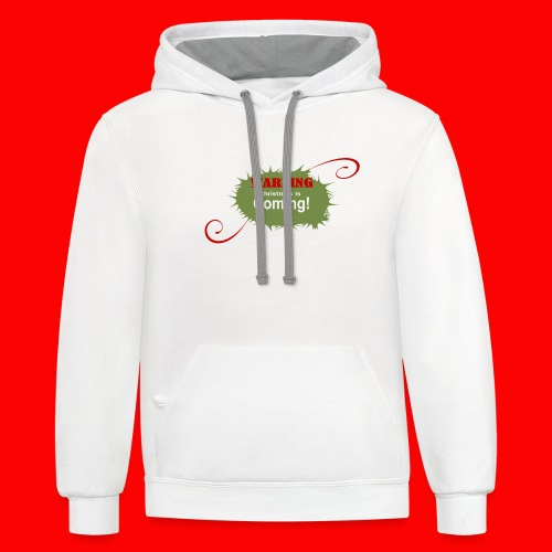 Christmas_is_Coming - Contrast Hoodie