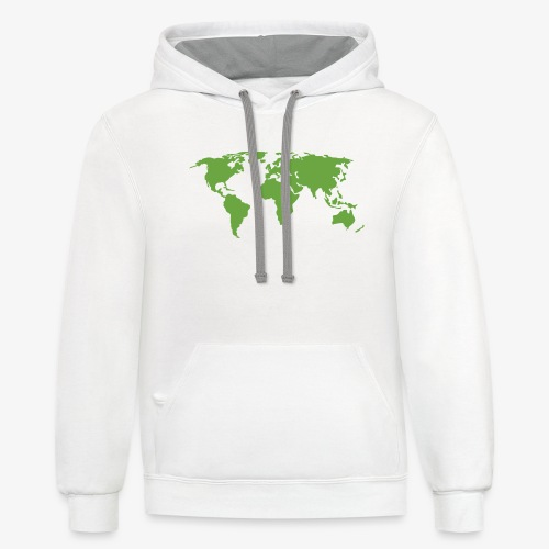 Planet Earth Green - Unisex Contrast Hoodie