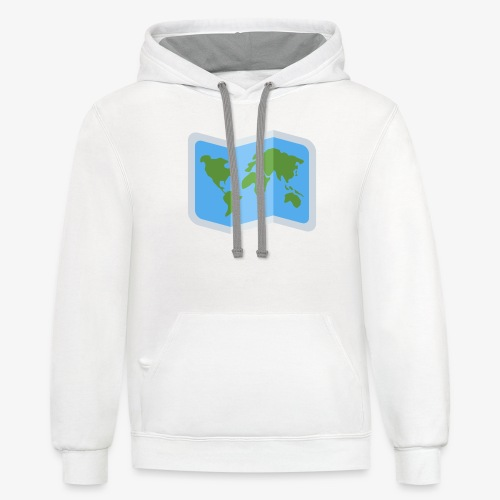 Awesome artsy Earth map - Unisex Contrast Hoodie