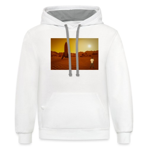 Going Into Space - Unisex Contrast Hoodie