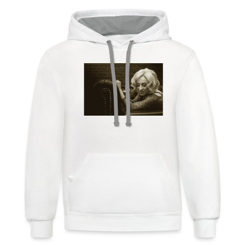 woman lying on the couch,fashion Classic Vintage 1 - Contrast Hoodie