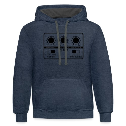 Synth Filter with Knobs - Unisex Contrast Hoodie