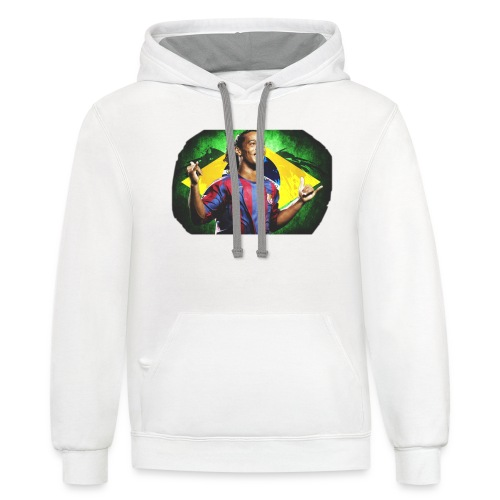 Ronaldinho Brazil/Barca print - Contrast Hoodie
