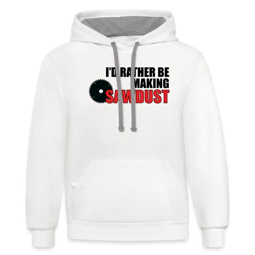 I'd Rather Be - Unisex Contrast Hoodie