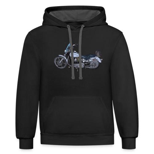 Motorcycle L - Contrast Hoodie
