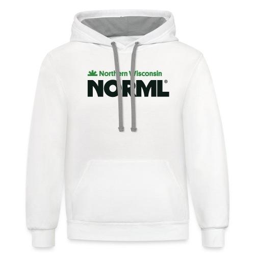 Northern Wisconsin NORML - Unisex Contrast Hoodie