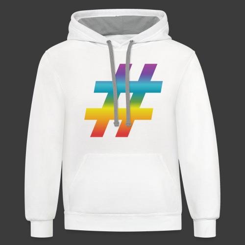 Rainbow Include Hash - Unisex Contrast Hoodie
