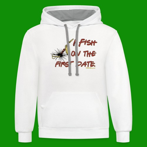 Fish on the First Date - Unisex Contrast Hoodie