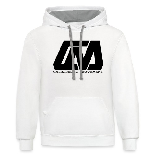 Cali Move Front black women - Unisex Contrast Hoodie
