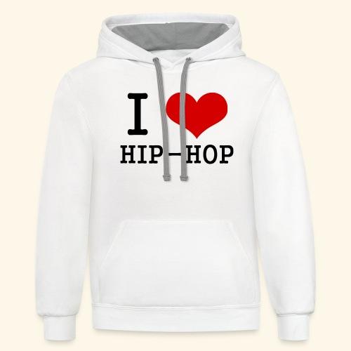 I love Hip-Hop - Contrast Hoodie