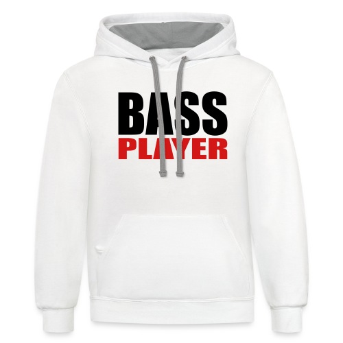 Bass Player - Unisex Contrast Hoodie