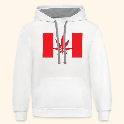 Canada's flag - Unisex Contrast Hoodie