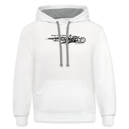 Sketch Rider Front - Contrast Hoodie