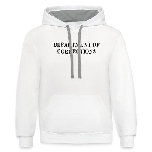 Department of Corrections - Prison uniform - Unisex Contrast Hoodie
