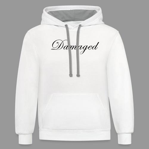 Damaged - Unisex Contrast Hoodie