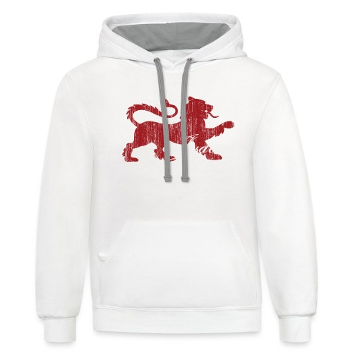 The Lion of Judah - Unisex Contrast Hoodie